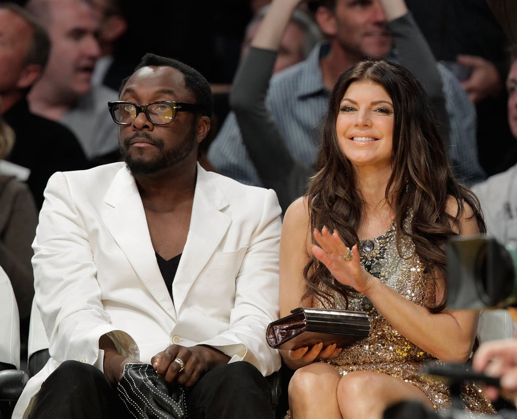 Fergie took in a Lakers game with her Black Eyed Peas bandmate Will.i.am in November 2009.