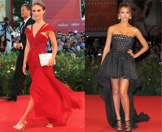 Pictures of Natalie Portman at the Black Swan Venice Film Festival Premiere and Jessica Alba at the Machete Premiere