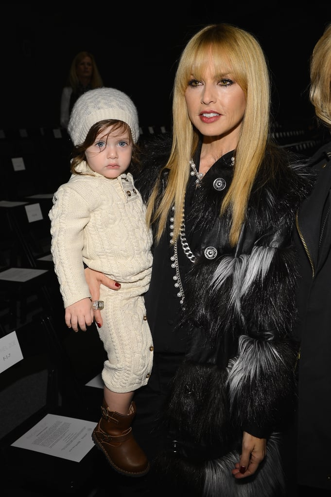 Rachel Zoe brought her son Skyler along to her runway show on Wednesday.