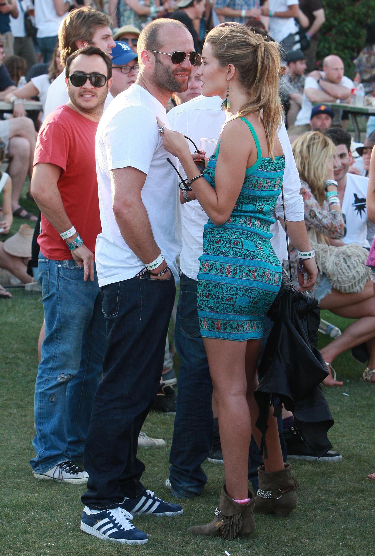 Jason Statham and Rosie Huntington-Whiteley showed PDA in 2010.