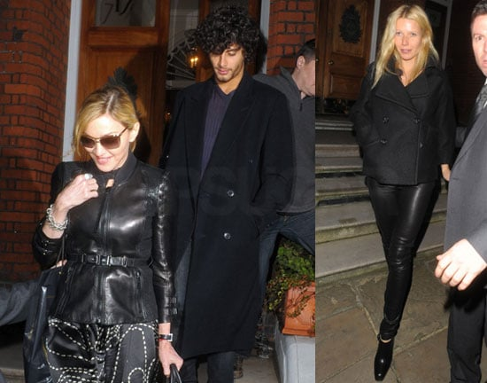 Photos of Madonna, Jesus, Gwyneth Paltrow and Stella McCartney Dine in London