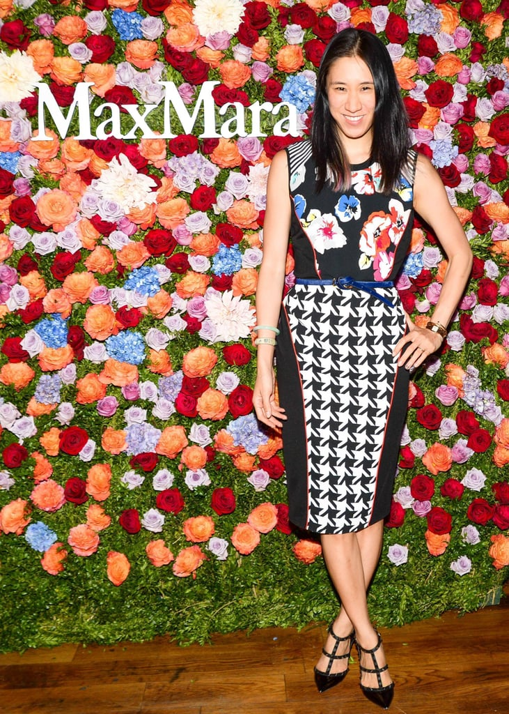Eva Chen went with the floral theme while celebrating Jennifer Garner's accessories campaign for Max Mara.
