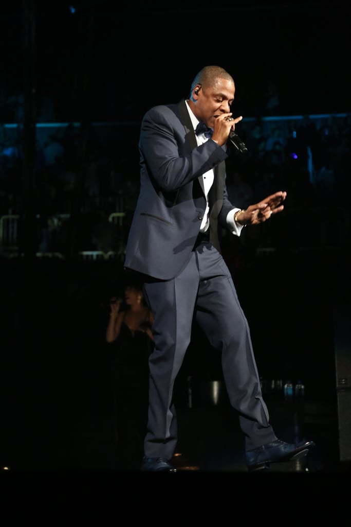 Jay-Z co-headlined a concert with Coldplay.