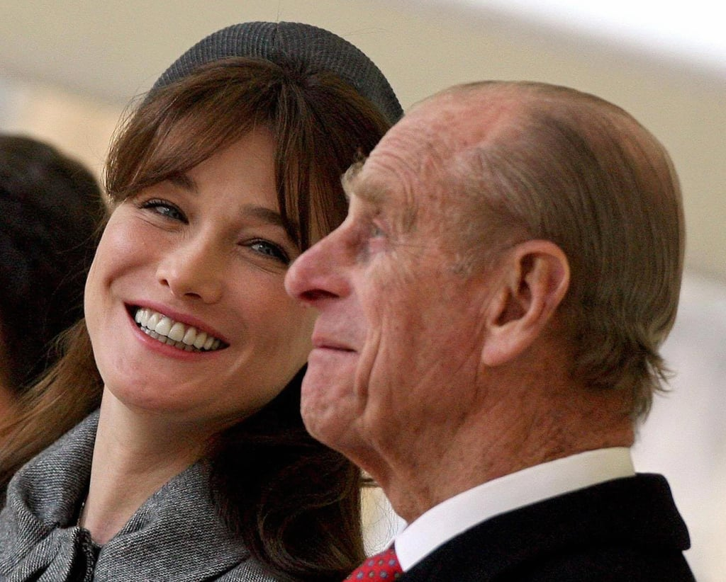 The Duke of Edinburgh charmed Carla Bruni-Sarkozy, wife of former French President Nicolas Sarkozy, on March 26, 2008.