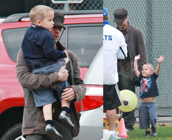 Deacon Gets Down to Business at Football Practice