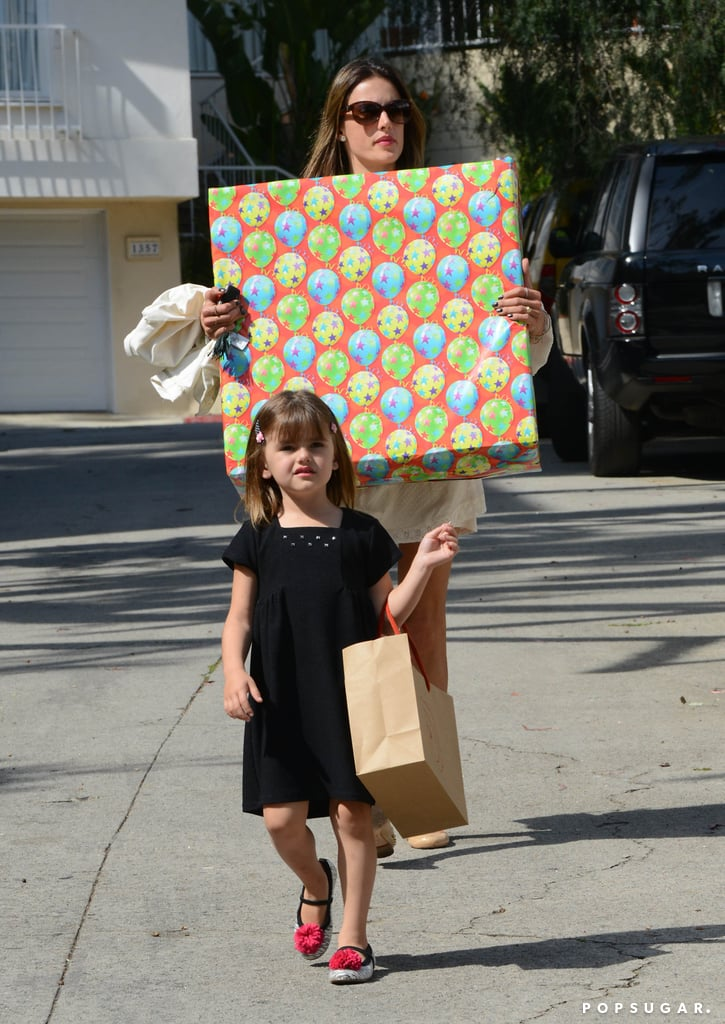Alessandra Ambrosio and her daughter, Anja Mazur, attended a party together in LA on Sunday.