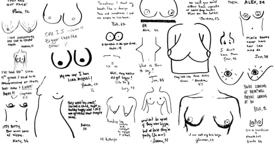We Asked New York Women to Draw Their Own Breasts and Write a Sentence About Them