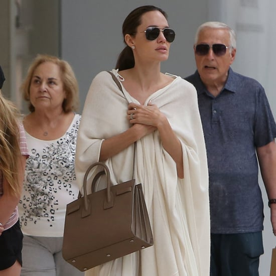 Angelina Jolie Neutral Outfit August 2016