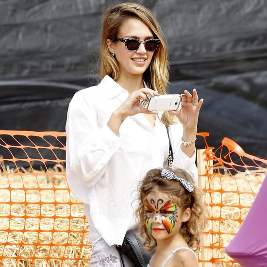 Jessica Alba at the Pumpkin Patch With Family | Pictures