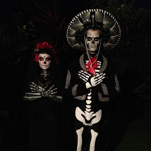 Josh Duhamel and his wife, Fergie, were barely recognizable in their Day of the Dead costumes. Source: Instagram user joshduhamel