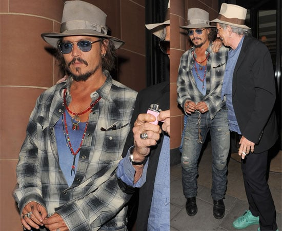 Pictures of Johnny Depp and Keith Richards Out in London