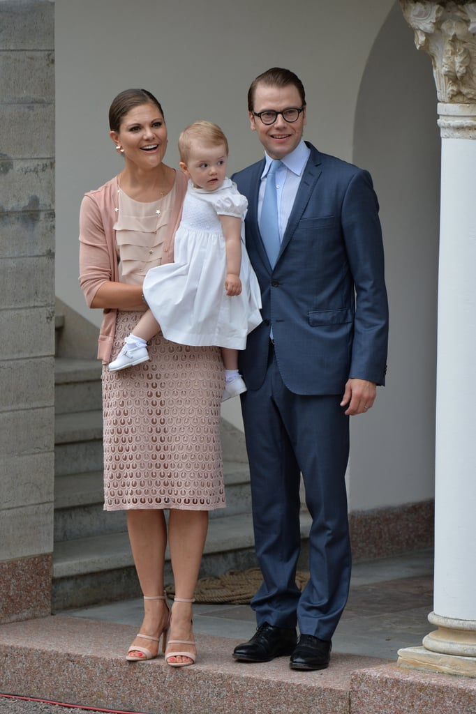 Crown Princess Victoria of Sweden took her husband Daniel and daughter Estelle with her to celebrate Victoria Day in Sweden on July 14.