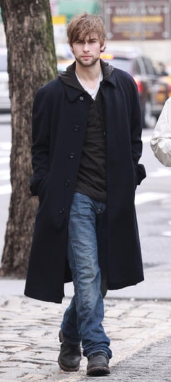 Photos of Chace Crawford on the Set of Twelve in NYC