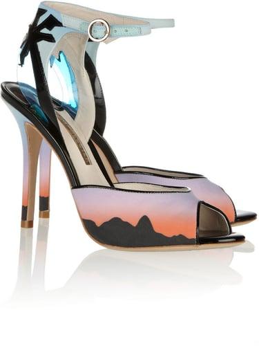Sophia Webster Rio Sunset printed matte-satin sandals