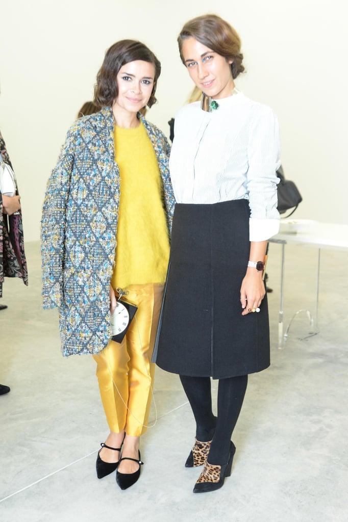 Miroslava Duma joined Delfina Delettrez at her Spring presenation in Paris.