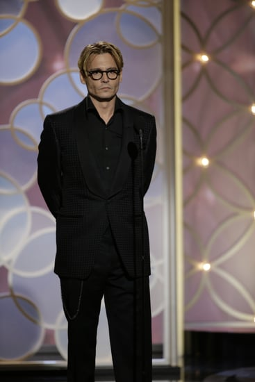 Surprise! Johnny Depp Pops Up at the Golden Globes