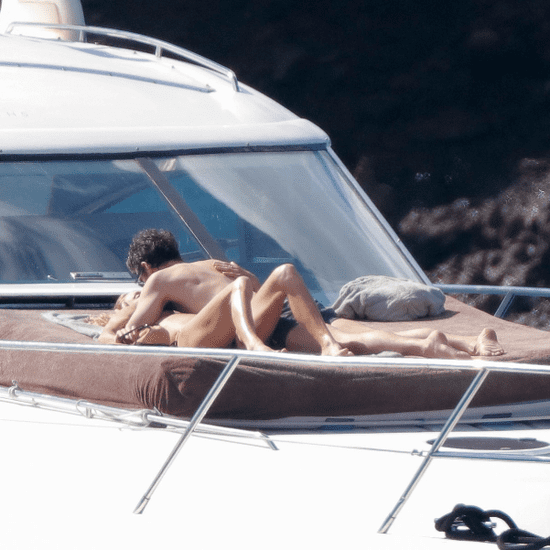 Patrick Dempsey and Wife Kiss in St. Barts February 2016