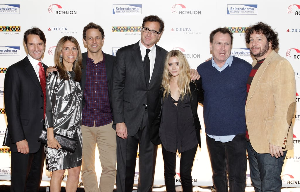 Bob Saget, Colin Quinn, Seth Meyers, Jeff Ross, and Ashley Olsen at the Cool Comedy - Hot Cuisine for Scleroderma Research Foundation event in NYC.