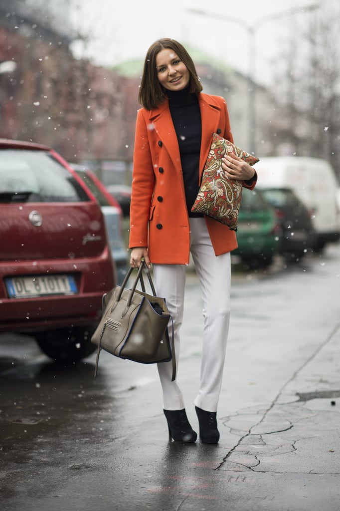 Two bags were better than one in this look, especially when one was a Céline and the other was covered in a gorgeous print. Source: Le 21ème | Adam Katz Sinding