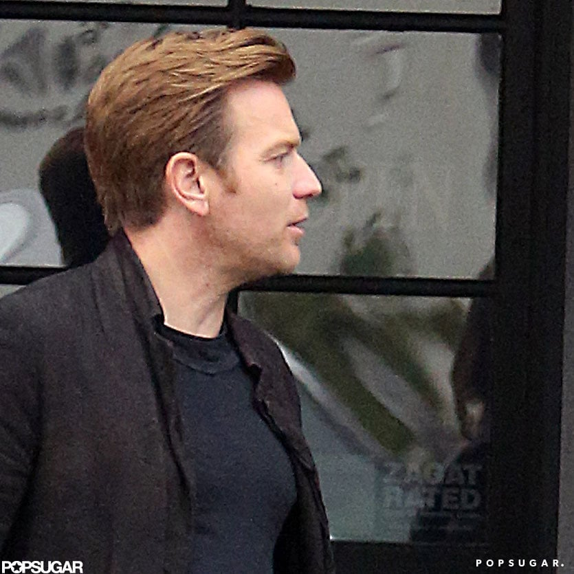 Ewan McGregor joined his wife and friends for lunch in Venice, CA.