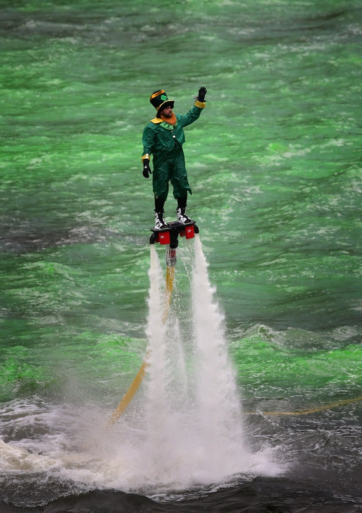 But seriously, did we mention the leprechaun wearing jet shoes?