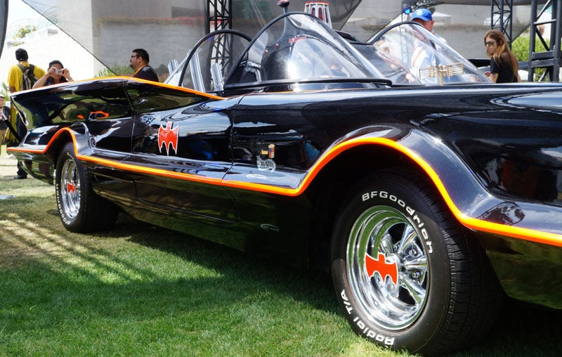Hot-rod Batmobile from the 1960s Batman TV series.