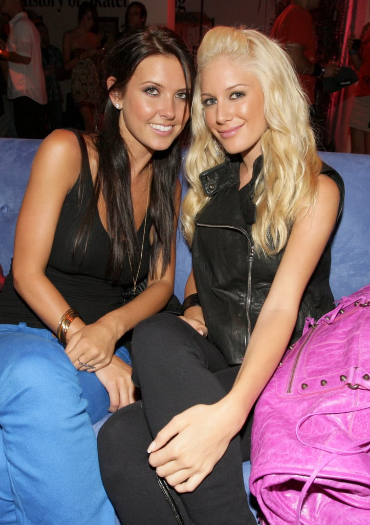 Audrina Patridge and Heidi Montag lounged at an LA event in August 2008.