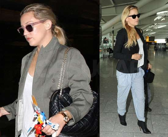 Pictures of Kate Hudson and Son Ryder Leaving London and Arriving in LA
