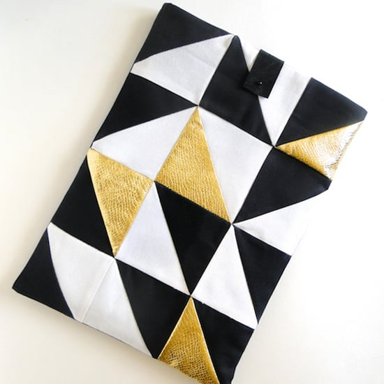Geometric Laptop Sleeve DIY
