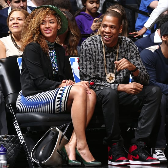 Beyonce and Jay Z at the Brooklyn Nets Game