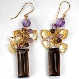 Charme Silkiner Topaz & Amethyst Earrings ($397)