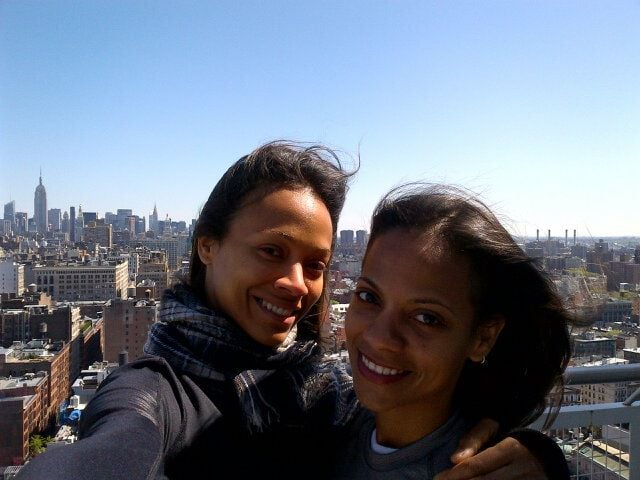Zoe Saldana spent time with her sister Cicely in NYC.  Source: Twitter User zoesaldana