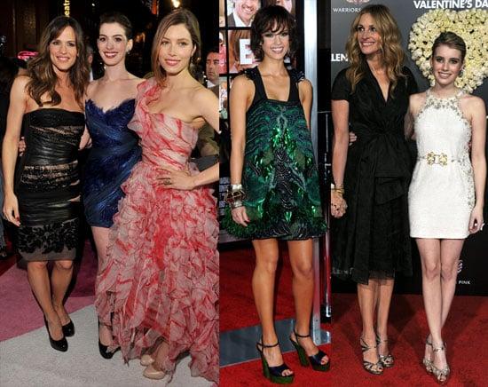 Valentine's Day Premiere Photos Including Jennifer Garner, Jessica Alba, Jessica Biel, Julia Roberts and More