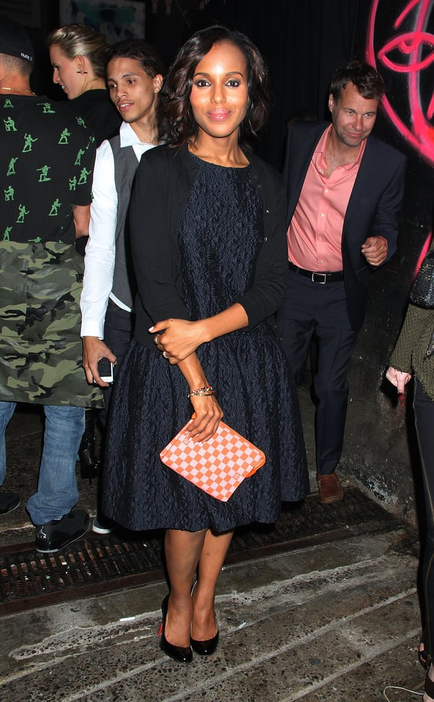 Kerry Washington ended her Friday night at the Jason Wu after party.