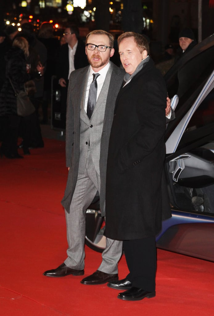 Simon Pegg hung out with director Brad Bird in Moscow.