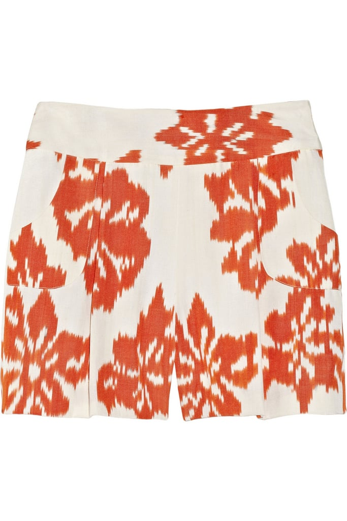 Oscar de la Renta for The Outnet woven silk ikat shorts