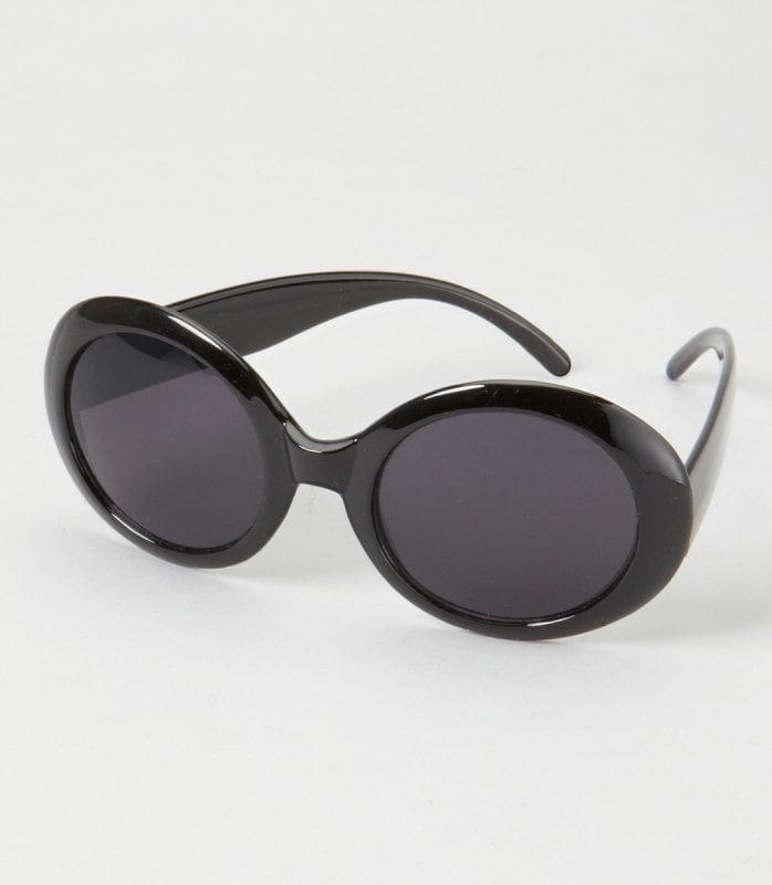 Have you tried a super round sunglass yet? Experiment with Fred Flare's oversize pair ($12).