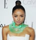 Kat Graham is becoming known for her eccentric style, and at last night's Elle event, she chose a teetering topknot and bold brows for her beauty look.