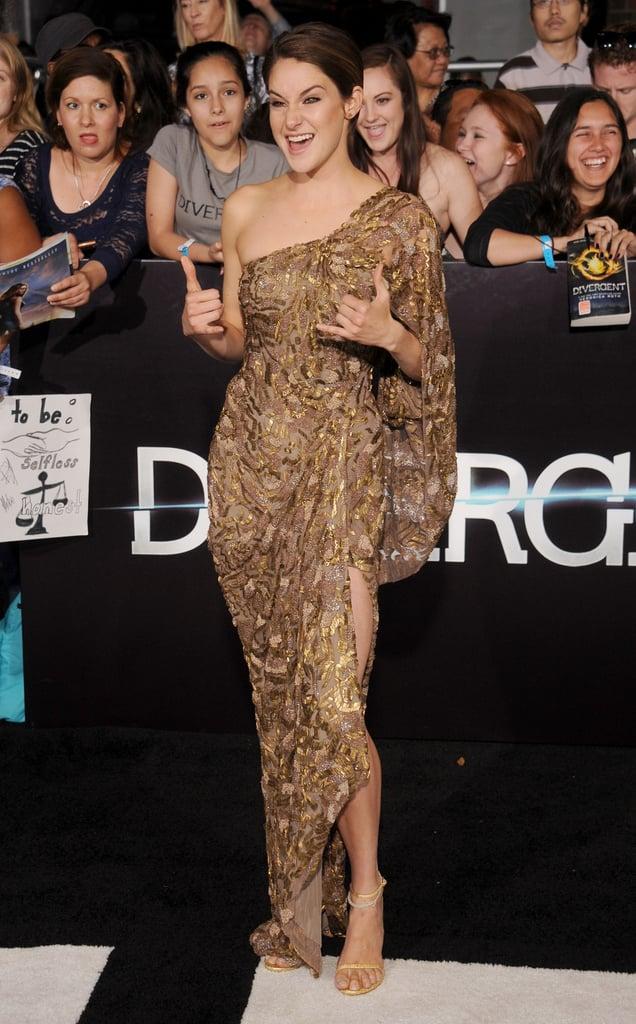 Shailene Woodley at the LA Divergent Premiere