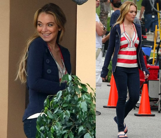 Photos of Lindsay Lohan on the Set of Labor Pains 2008-06-11 05:04:00