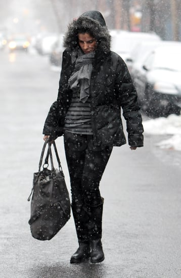 Pictures of Sandra Bullock Stepping Out in Snowy NYC Following Her NYE Celebration With Ryan Reynolds