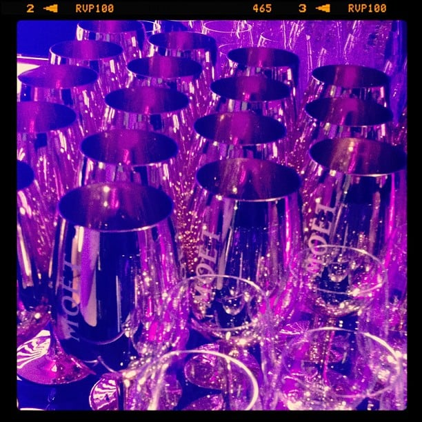 Nothing but gold goblets for those drinking Moet at Cannes.
