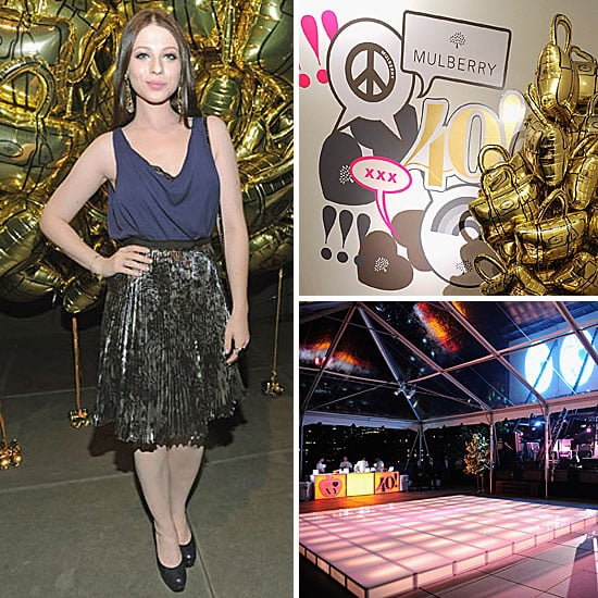 Michelle Trachtenberg Talks Fall Fashion at Mulberry's 40th Anniversary Bash