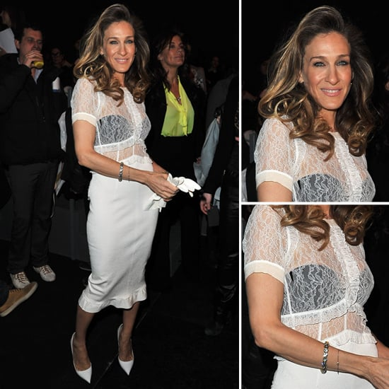 Sarah Jessica Parker White Lace Top