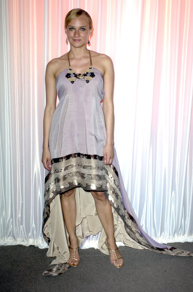 For the 2003 Chopard Trophy event, Diane wore a shimmery lavender number, complete with a cool asymmetrical metallic hem.