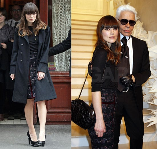 Keira Knightley in Chanel at the Chanel Haute Couture Show in Paris