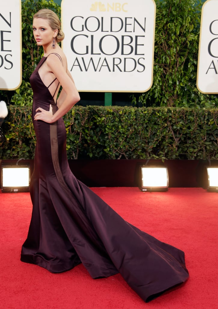 Taylor Swift Goes Backless in Donna Karan at the Globes