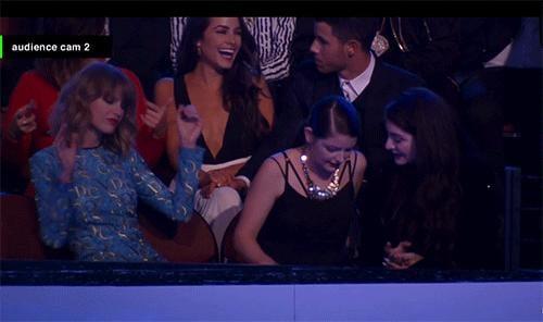 Taylor actually didn't stop dancing.