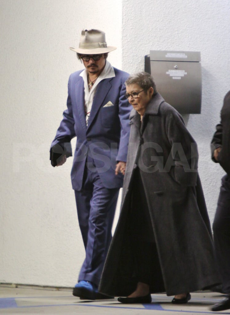Johnny Depp spent time with a loved one on New Year's Eve.