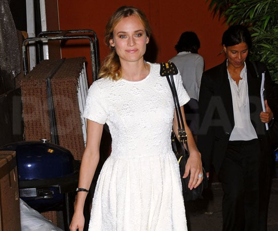 Photo Slide of Diane Kruger Leaving Live With Regis and Kelly
